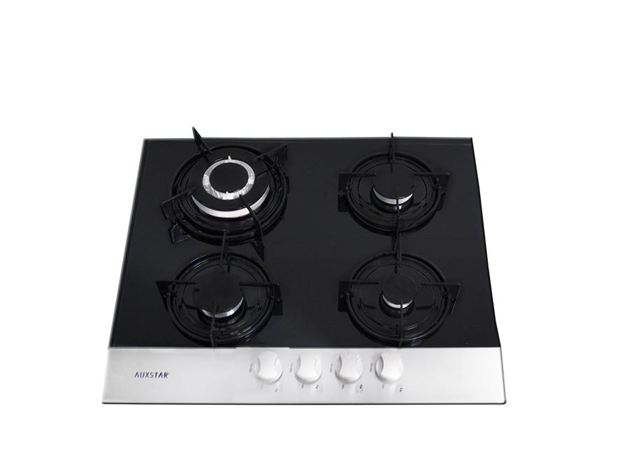 cityshop tunisie plaque cuisson gaz auxstar noir 4 feux. Black Bedroom Furniture Sets. Home Design Ideas