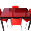 table agatha + chaise zip rouge