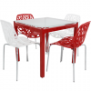 table agatha rouge + chaise jungle