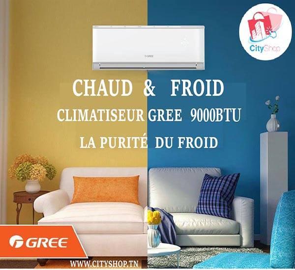 Climatiseur GREE 9000 BTU Chaud Froid