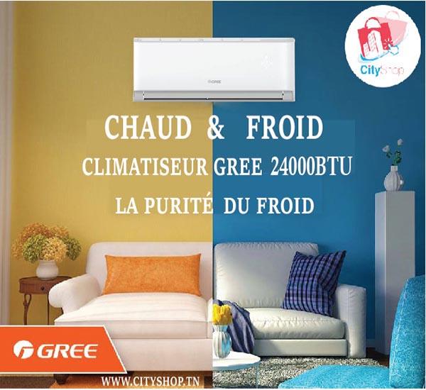 Climatiseur GREE 24000 BTU Chaud Froid