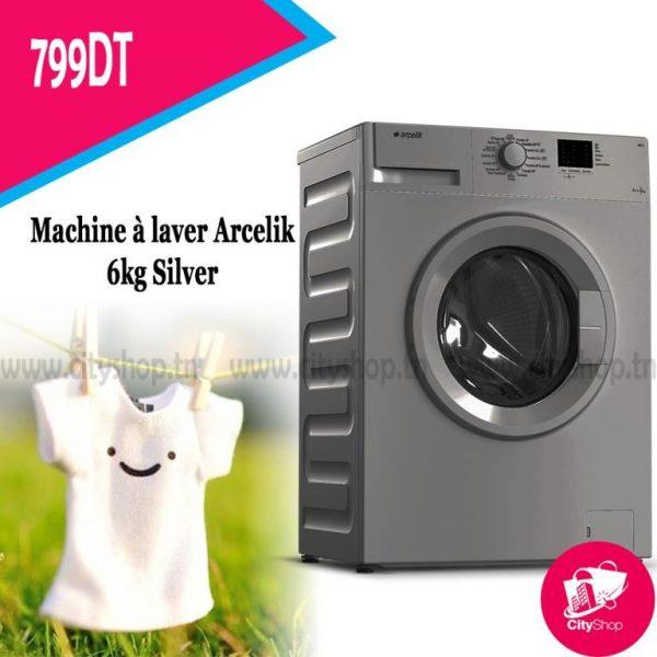 Machine à laver Arcelik 6KG Silver
