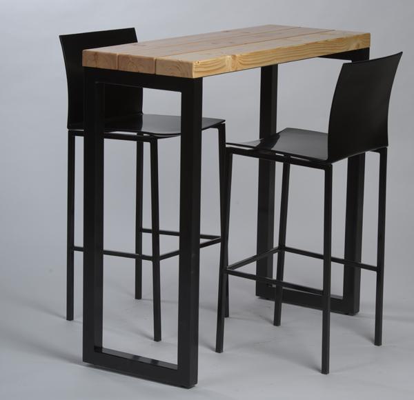 table haute industrielle pour caf et restauarnt en. Black Bedroom Furniture Sets. Home Design Ideas