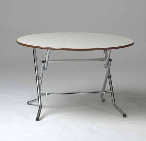 table pliante ronde en mdf