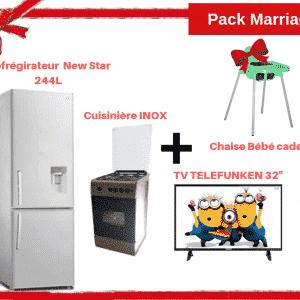 Pack Marriage CityShop 2019 : Réfrigérateur+TV+Cuisinière