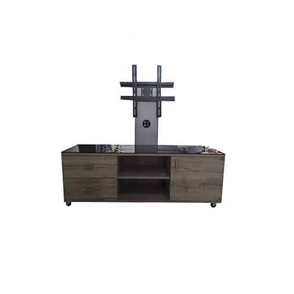 Table TV Moderne 120/44 - Mélaminé - Chêne Brut