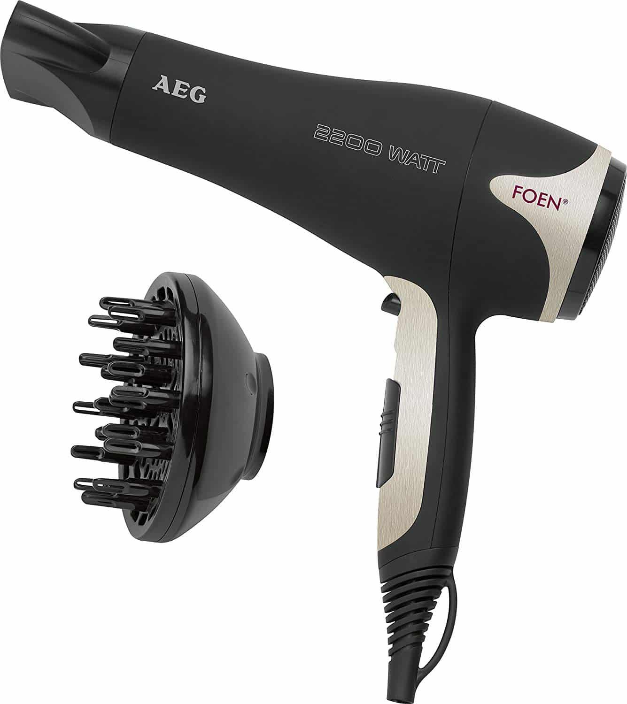 Sèche Cheveux Professionnel AEG Noir
