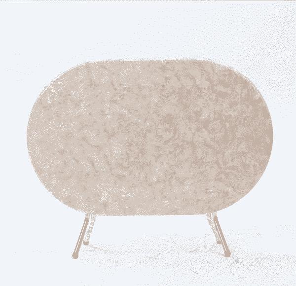 Table Pliante RABATTABLE Ovale plus 4 Chaises CHYM