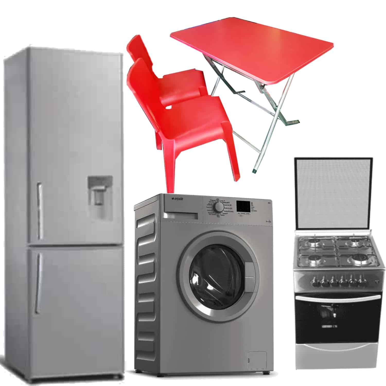 Pack Mariage Réfrigérateur + Cuisinière + Machine à Laver Automatique+ Table Pliante + 2* Chaises Wait
