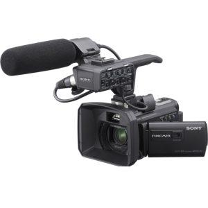 Caméscope Sony HXR-NX30U NXCAM HD de taille Palm avec projecteur et disque dur de 96 Go